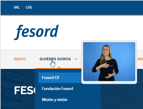 Página oficial de FESORD